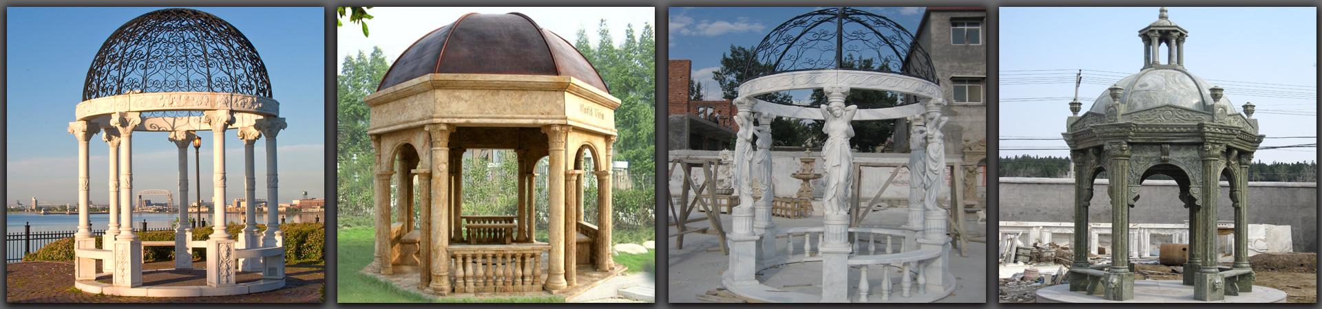 outdoor garden marble gazebos