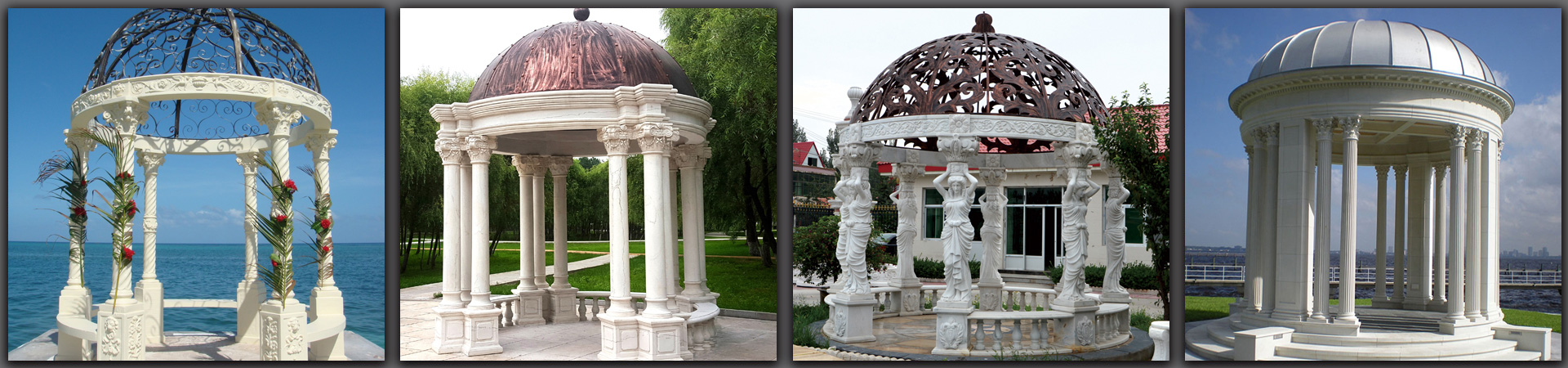 stone gazebo for wedding