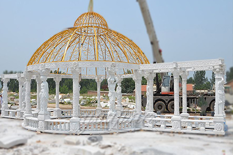 Outdoor luxury Large marble gazebos for decoration