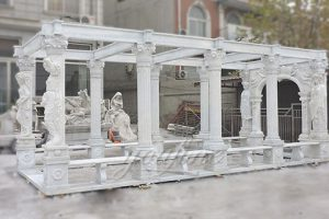 Decorative outdoor large marble gallery