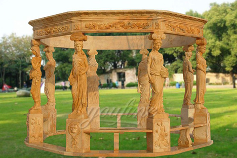 Outdoor Garden garden decoration lady stone carving marble gazebo