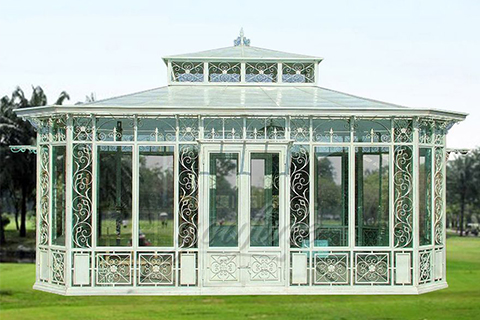 Large Outdoor Garden Wrought Iron Gazebos